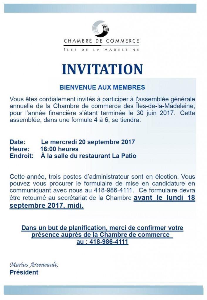 Invitation AGA 17