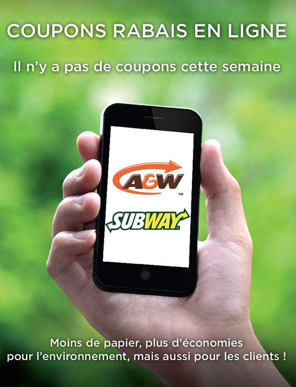 A&w coupons rabais