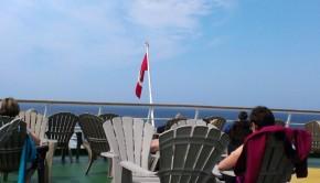 Sur le pont au soleil