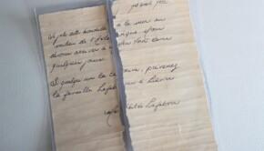 La lettre semble parfaitement préservée malgré son âge. - Archives